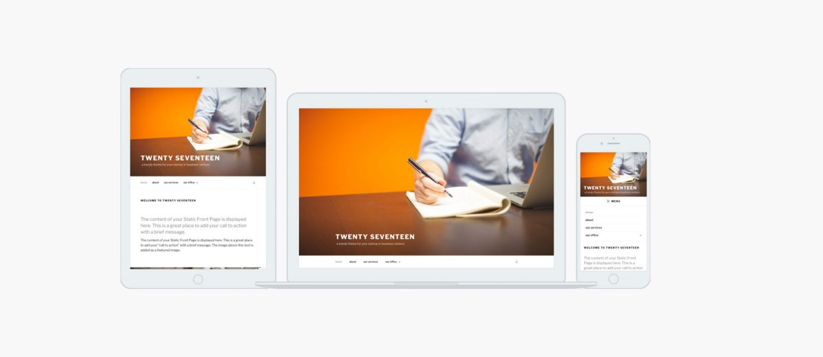 Preview New WordPress Default Theme Twenty Seventeen