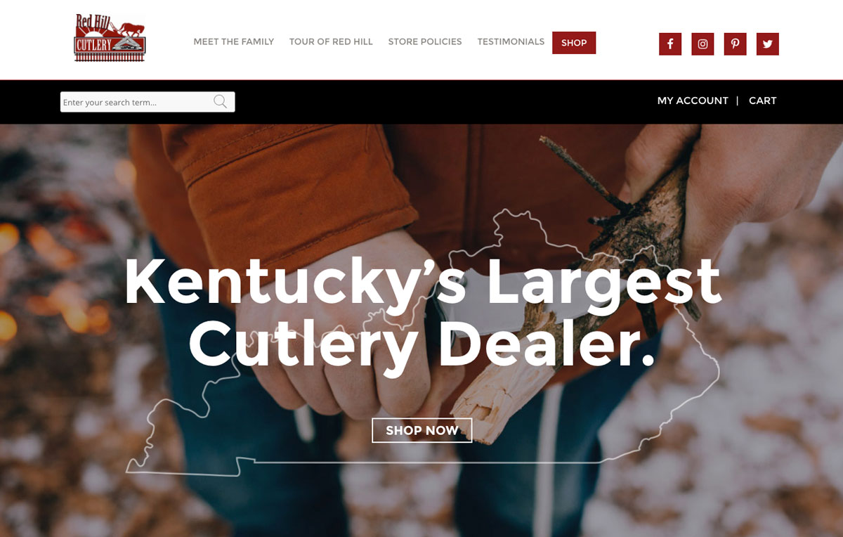 Red Hill Cutlery Web Design