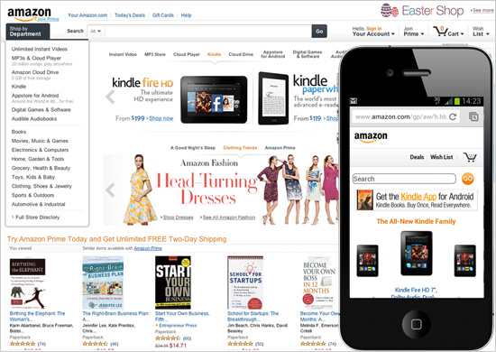 Amazon.com is an example of an accessible website.